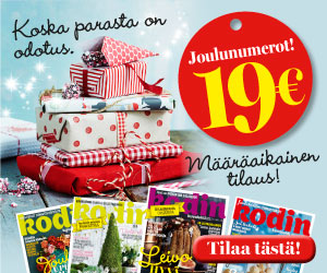 Joulun lehtitarjoukset